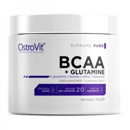 OstroVit BCAA + GLUTAMINE 200g PURE