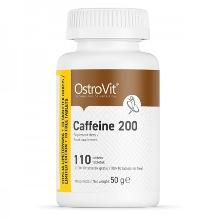 OstroVit CAFFEINE 200 110 tabs. LIMITED EDITION