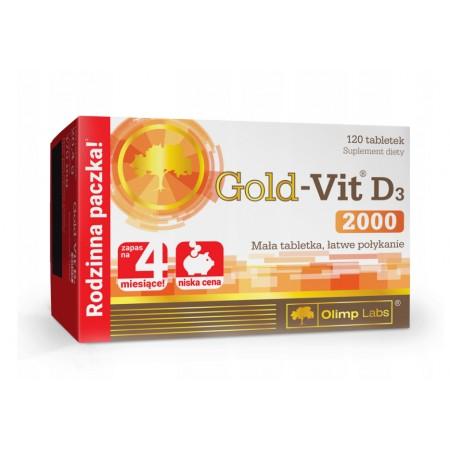 OLIMP GOLD-VIT D3 2000 WITAMINA D 120 tabs.