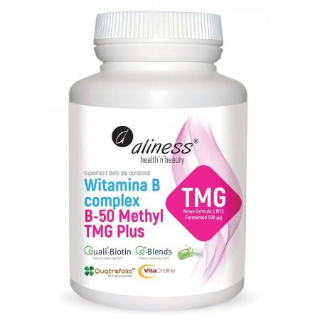 Aliness Witamina B Complex B-50 Methyl TMG PLUS 100 caps.