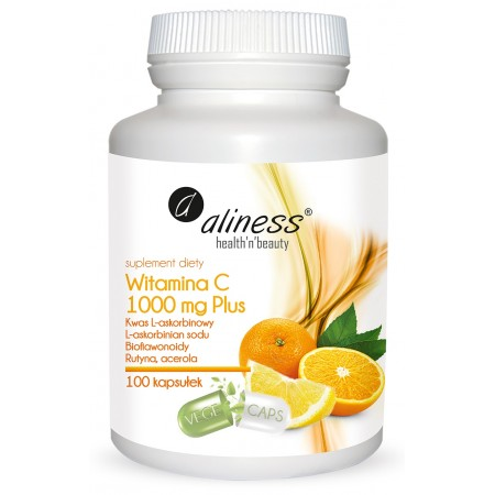 Aliness Witamina C 1000 mg Plus 100 VEGE caps.