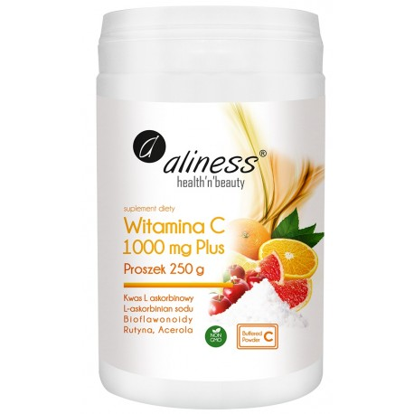 Aliness Witamina C 1000 Buforowana Plus Proszek 250g
