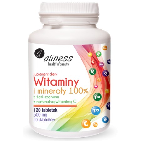 Aliness Witaminy i minerały 100% 120 tabletek