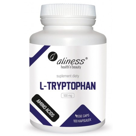 Aliness L-Tryptophan 500 mg VEGE caps.