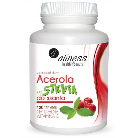 Aliness Acerola ze Stevią do ssania 120 tabletek