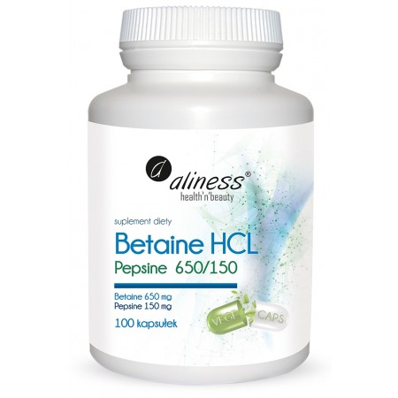Aliness Betaina HCL Pepsine 650/150 100 caps.