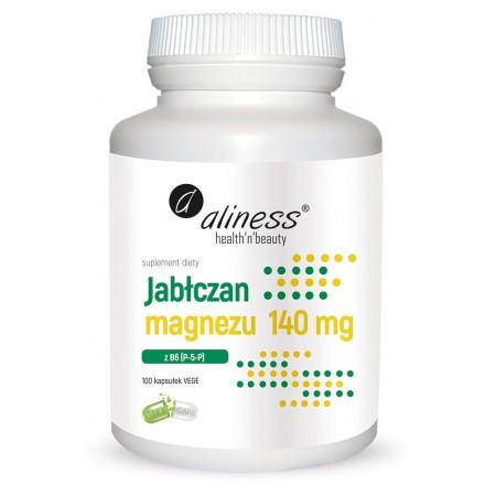 Aliness Jabłczan magnezu 140 mg z B6 (P-5-P) x 100 Vege caps.