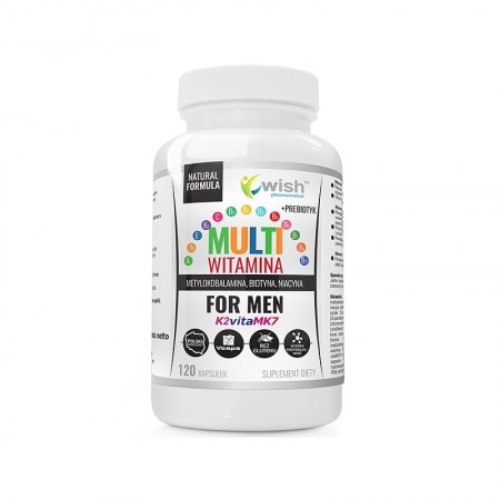 WISH MULTIWITAMINA COMPLEX FOR MEN 120 caps.