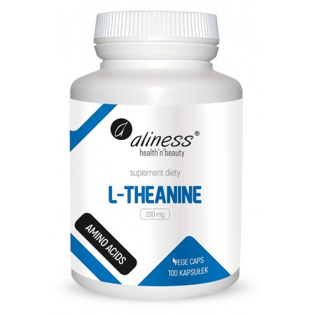 Aliness L-Theanine 200 mg x 100 Vege caps.
