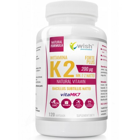 WISH WITAMINA K2 VITAMK7 200mcg 120 caps.
