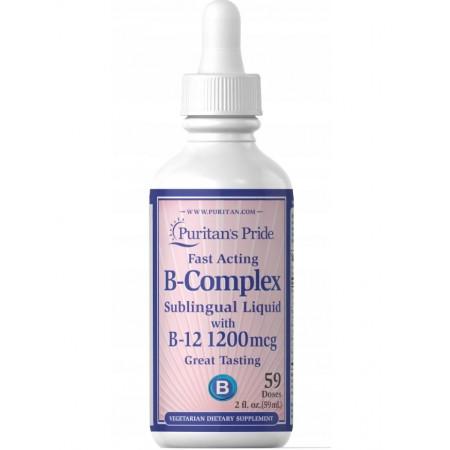Puritan's Pride WITAMINA B-COMPLEX KROPLE B12