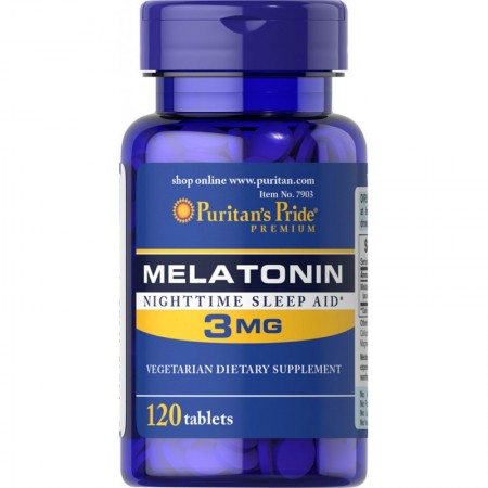 Puritan's Pride MELATONINA 3 mg 120 tabs.