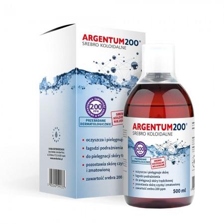 Aura Herbals Argentum200 Srebro Koloidalne 100 ppm - tonik 500ml