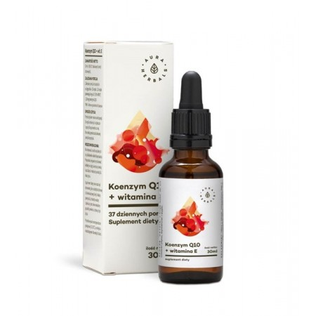 Aura Herbals Koenzym Q10 + witamina E - krople 30ml
