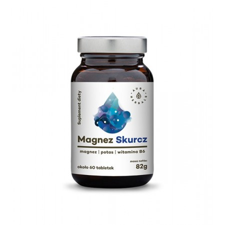 Aura Herbals Magnez Skurcz + potas + witamina B6ok. 60 tabletek