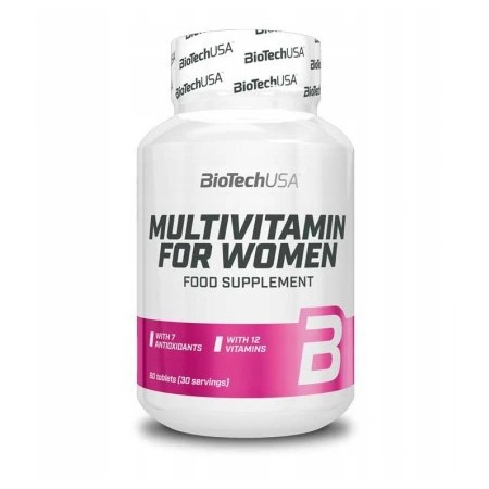 BioTech USA MULTIVITAMIN FOR WOMEN 60 tabs.