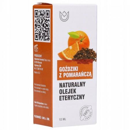 Naturalny olejek eteryczny 12ml - GOŹDZIKI Z POMARAŃCZĄ