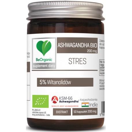 BeOrganic Ashwagandha KSM-66 5% BIO 200mg x 50 kaps