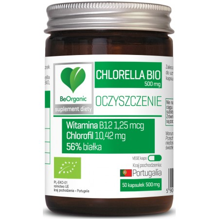 BeOrganic Chlorella BIO 500mg x 50 kaps