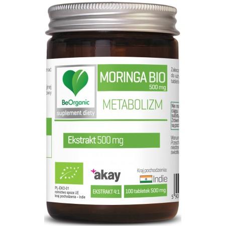 BeOrganic Moringa ekstrakt BIO 500mg x 100 tabletek