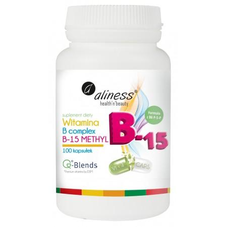 Aliness Witamina B Complex B-15 Methyl 100 kapsułek
