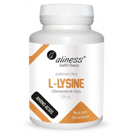 Aliness L-Lysine 500 mg 100 Vege caps.