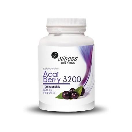 Aliness Acai Berry 3200 800mg 100 kapsułek