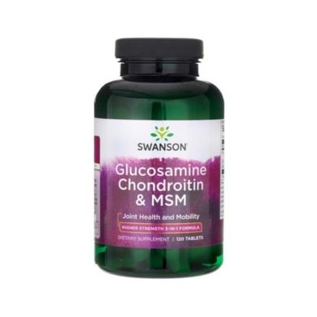 SWANSON GLUCOSAMINE CHONDROITIN AND MSM 120 tabs.