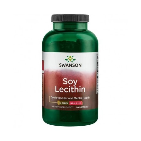 SWANSON SOY LECITHIN NON-GMO 1200mg 90 caps.