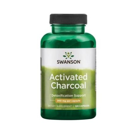 SWANSON ACTIVATED CHARCOAL 260mg 120 caps.