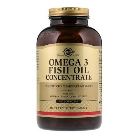 SOLGAR OMEGA 3 FISH OIL CONCENTRATE 240 caps.