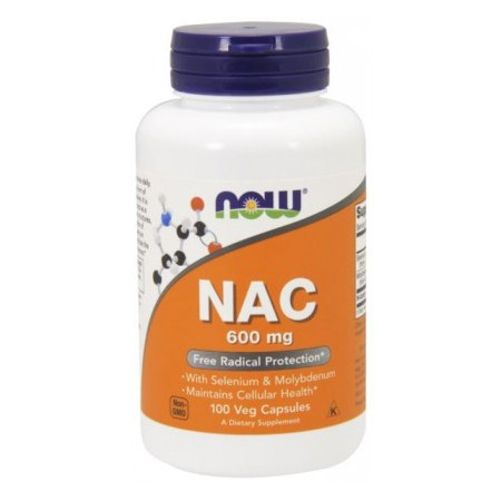 NOW FOODS NAC-ACETYL CYSTEINE 600mg 100 caps.