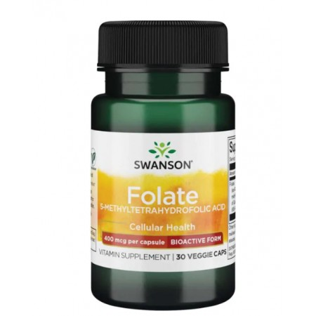SWANSON FOLATE ACID 400mcg 30 caps.