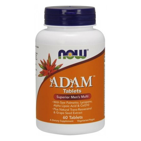 NOW FOODS ADAM MALE MULTI 60 TABS.