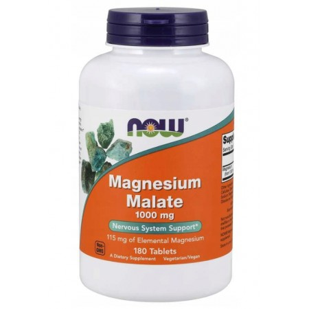 NOW FOODS MAGNESIUM MALATE 1000mg 180 tabs.