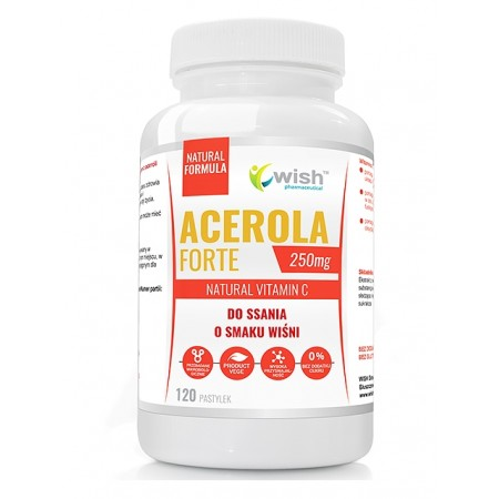 WISH ACEROLA FORTE 250mg DO SSANIA 120 Pastylek