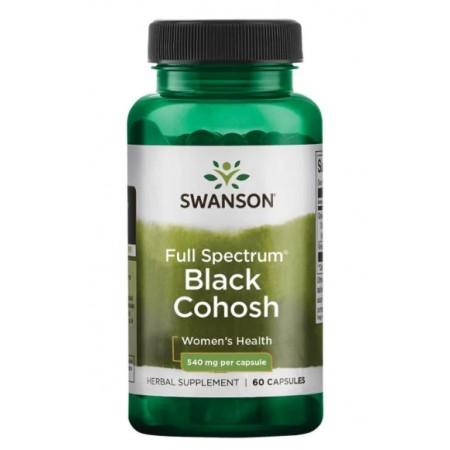 SWANSON BLACK COHOSH (PLUSKWICA) 540mg 60 caps.