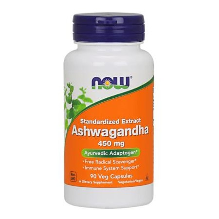 NOW FOODS ASHWAGANDHA 450mg 90 caps.