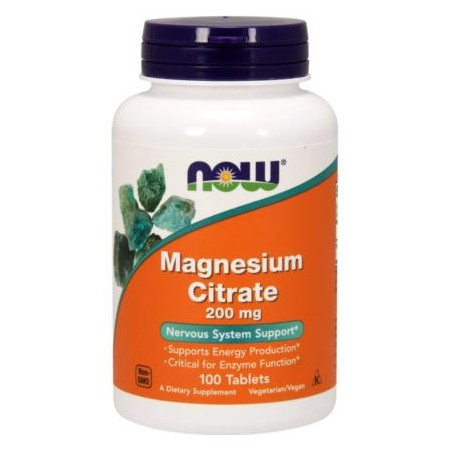NOW FOODS CYTRYNIAN MAGNEZU 200mg 100 tabs.