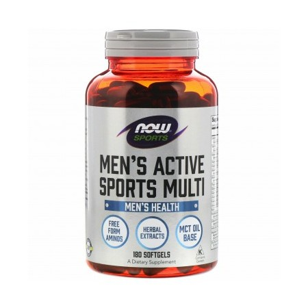 NOW FOODS MEN'S EXTREME SPORTS MULTI 180 caps.