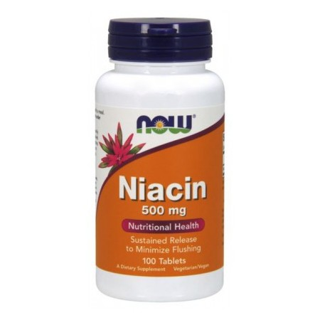 NOW FOODS NIACIN 500mg TR 100 tabs.