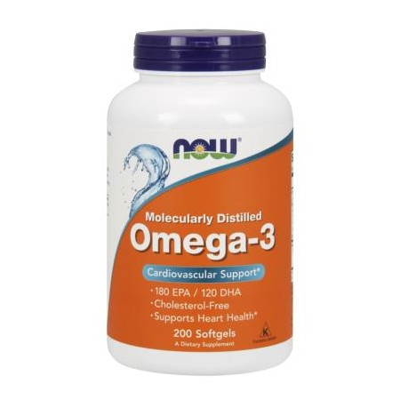 NOW FOODS OMEGA-3 1000mg 200 caps. softgels