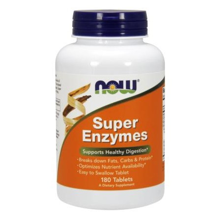 NOW FOODS SUPER ENZYMES 180 tabs.