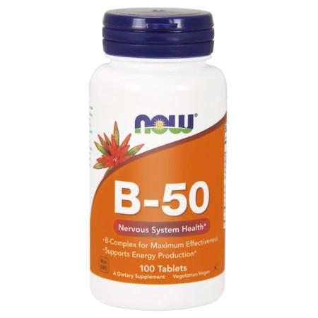 NOW FOODS B-50 100 tabletek
