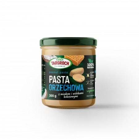 TARGROCH Pasta orzechowa miód + wiórki kokosowe 300g