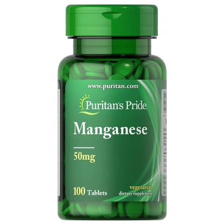 Puritan's Pride Mangan 50mg 100 tabletek