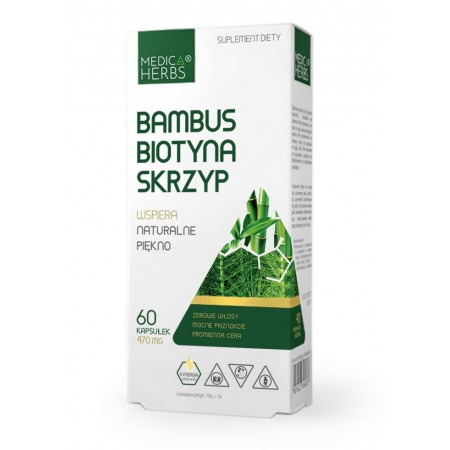MEDICA HERBS BAMBUS BIOTYNA SKRZYP 470mg 60 kapsułek