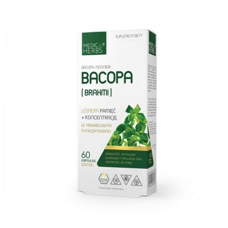 MEDICA HERBS BACOP BRAHMI 600mg 60 kapsułek