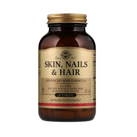 SOLGAR SKIN, NAILS & HAIR 120 tabs.