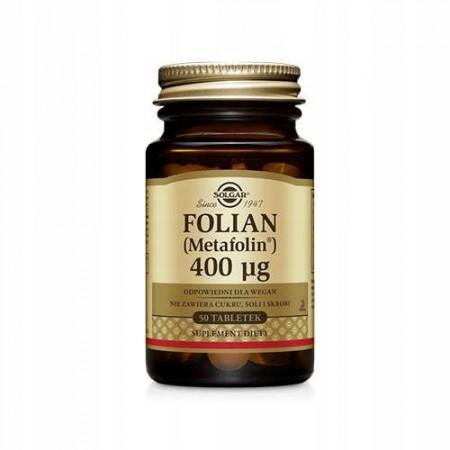 SOLGAR Folian 400mcg 50 tabletek